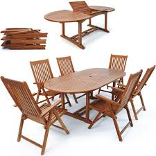 eucalyptus wood dining table garden dining table set vanamo 6 reclining chairs fsc certified