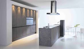 kitchen design ideas unusual concrete cabinets and island in cabinets and island in contemporary minimalist kitchen design with modern range hood near white dining table set on tile flooring remodel ideas cabinet