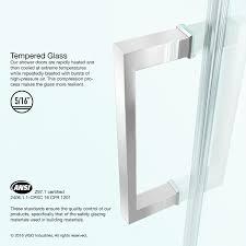Shower Door Magnetic Strips by Vigo Soho 24 To 24 5 In Adjustable Frameless Shower Door With