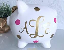 personalized baby piggy banks valentines day gift personalized piggy bank