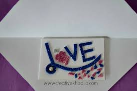 handmade glitter cards ideas
