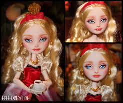 Ever After High Apple White Doll Ever After High Apple White Custom By Ephedrenaline On Deviantart