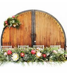 wedding backdrop hire perth rustic timber doors bridal table backdrop ha hire