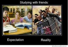 Expectation Vs Reality Meme - studying with friends memes pinterest expectation vs