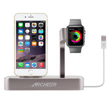 archeer charging dock station apple watch stand lightning mfi