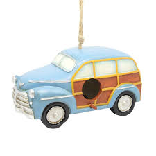 blue station wagon hanging blue station wagon birdhouse garden and pond depot