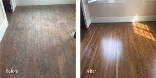 Laminate Flooring Before And After Refinish Restoration Garlason U0027s Fine Hardwood Flooring