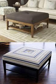 Oversized Ottoman Coffee Table Coffee Table Modern Wood Coffee Table Reclaimed Metal Mid