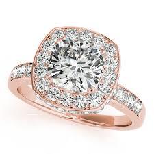 gold engagement rings cushion cut cushion cut halo engagement ring 14k gold 1 34ct