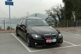 jet black e90 330i with m sport aero kit