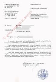 certificat de capacitã de mariage transcription ou ccam refusé défaut de validité du jugement