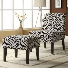 ottomans decor zebra print lounge chair and ottoman set shipping