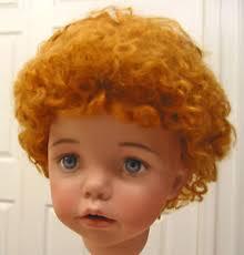 baby lauren mohair wig auburn 13 14 short curly hair for baby