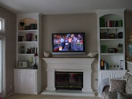 white wall unit with fireplace wall decoration ideas