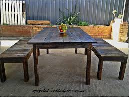 Reclaimed Timber Dining Table 1 8m X 1m Rustic Recycled Timber Dining Table And Optional