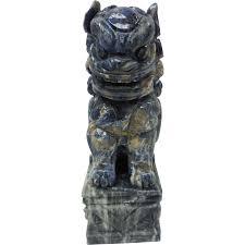 foo dog sculpture c 1900 blue lapis marble foo dog guardian lion shi