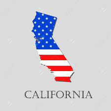 State Of Maine Flag Map Of The State Of California And American Flag Illustration