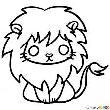 draw lion chibi