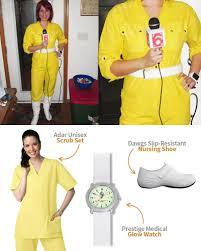 April Neil Halloween Costume Nursing Scrubs Pulse