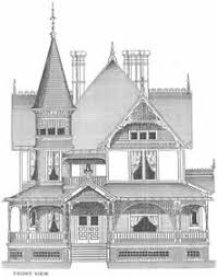 Queen Anne House Plans Historic Psycho House Dollhouse Pinterest House Architecture And