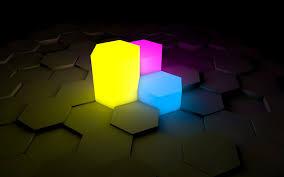 neon hexagons wallpaper 1174