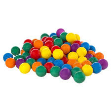 100 pack intex small plastic multi colored ballz for a