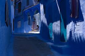 this old town in morocco is covered in blue paint bored panda