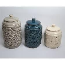 beige fleur de lis ceramic kitchen canisters set 3 by drewderosedesigns rustic quilted 3 piece kitchen canister set