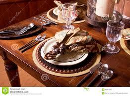 thanksgiving place setting elegant formal dining thanksgiving table setting stock photo