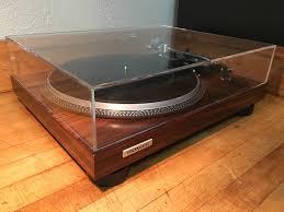 pioneer pl 518x handmade santos rosewood turntable shure