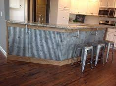 rustic backsplash from reclaimed tin roofing my work pinterest