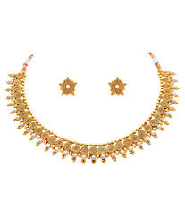 pearls gold necklace sets images Jfl jewellery for less pearls golden necklace set buy jfl jpg