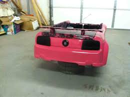 pink power wheels mustang project pink powerwheels truestreetcars com