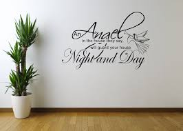 angel night home quote wall art sticker decal mural stencil angel night home quote wall art sticker