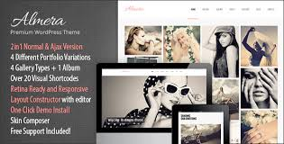 almera model agency u0026 photo portfolio wordpress theme by thememakers