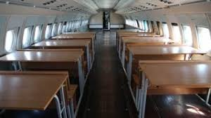 Airplane Interior Inside The Airplane Empty Interior Of Old Airliner Interior Of