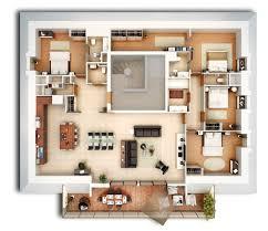 appartement 4 chambres plan appartement 3d plans 3d pour s niors studio multim dia 3d at
