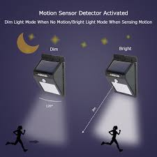 bright light solar solar motion sensor lights morecoo 15 led outdoor bright light