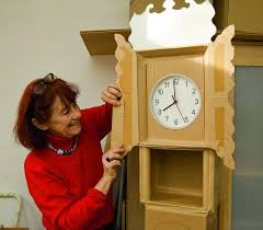 Grandpa Clock Cardboard Creations By Nicola Russell The Oxford Times