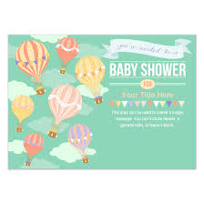 air balloon baby shower invitations cards on pingg