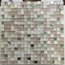 wholesale pink glass mosaic tile online buy best pink glass