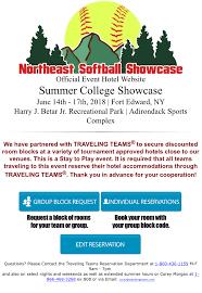 Hotel information northeast softball showcase