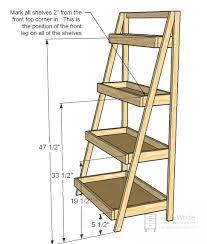 Diy Shelf Leaning Ladder Wall by Ana White Leaning Ladder Wall Bookshelf Diy Projects Wooden