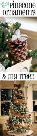 diy pinecone ornaments u0026 my tree pinecone burlap bows and