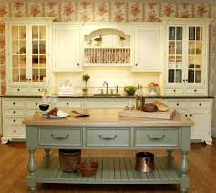 Green Kitchen Island Country Kitchen Kitchen Traditional With Country Style Herb Pots
