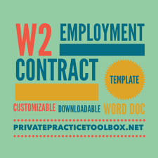 w2 employee contract template u2014 private practice toolbox with dr