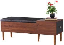 storage bench langley street linden wood storage bench u0026 reviews wayfair
