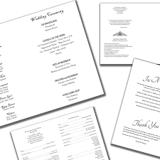 programs for a wedding sle wedding programs wedding programs fast