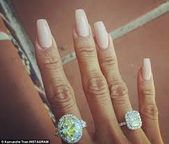 browns wedding rings chris brown s on karrueche brandishes two