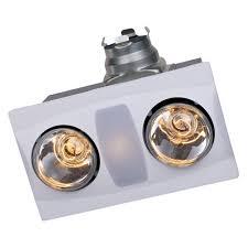 Bathroom Heat Light Fan A515aw Aero Fan A515a W 2 Bulb Bathroom Heater Fan
